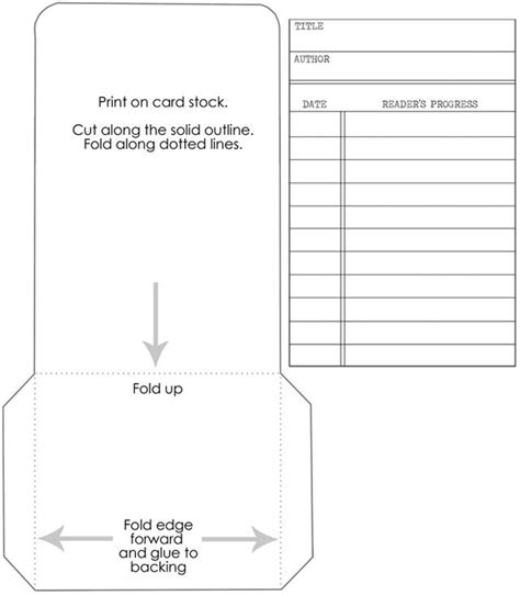 free pocket card template library cards track your kid s reading progress free