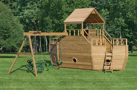amish swing set amish wooden swing sets pressure treated outdoor