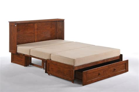 day clover murphy cabinet bed gel mattress cherry finish ebay