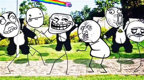 Internet Face Meme - gallery nyan cat troll face gif