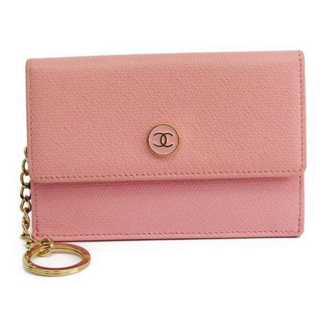 Chanel Anak Pink K chanel pink coco button s coin purse coin wallet tradesy