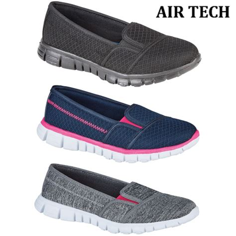 comfortable lightweight walking shoes pulse ladies breathable lightweight slip on trainers