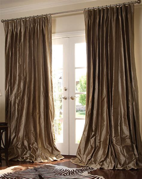 China Silk Pinch French Pleated Drapery China Curtains