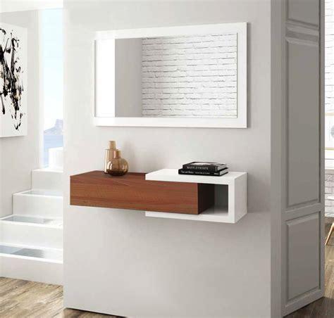 specchio da ingresso mobile da ingresso con specchio e cassetto bianco lucido e