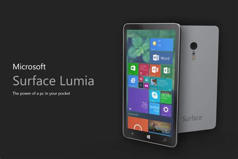 Microsoft Surface Phone microsoft surface lumia phone render is subtle and