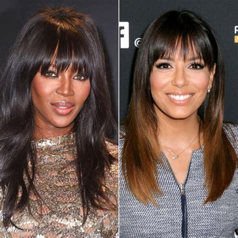 types of bangs and fringes with pictures the right bangs to flatter your face shape instyle com