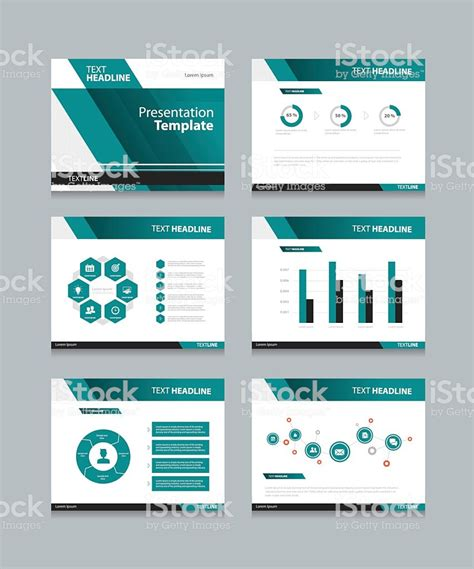 Business Presentation And Powerpoint Template Slides Background Design Stock Vector Art More Powerpoint Template Ideas