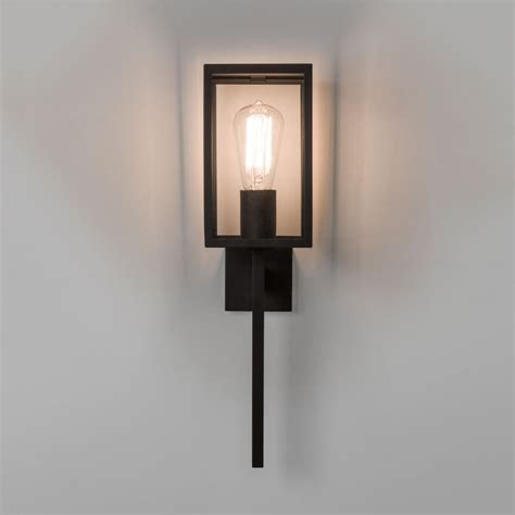 black exterior wall lights astro coach 130 exterior wall light in black