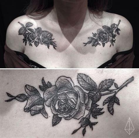 budweiser tattoo chest shoulder floral flower peoney branch bud