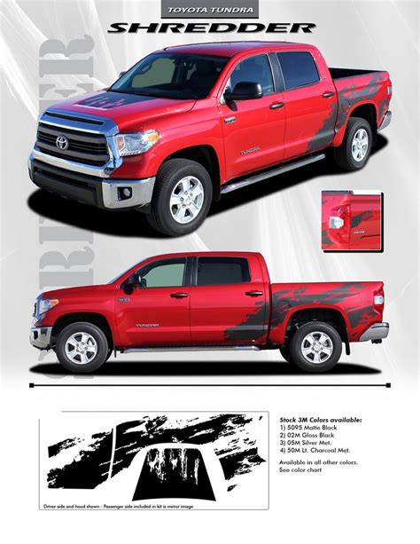 truck bed decals 2014 2017 toyota tundra quot shredder quot hood and truck bed