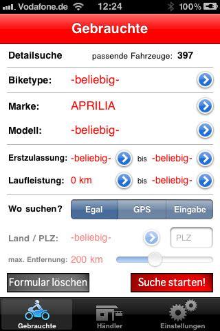 Gebrauchtmotorrad Kilometerstand by 1000ps Iphone App Motorrad News