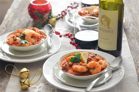 seven fishes dinner part two feast of the seven fishes with davinci wine