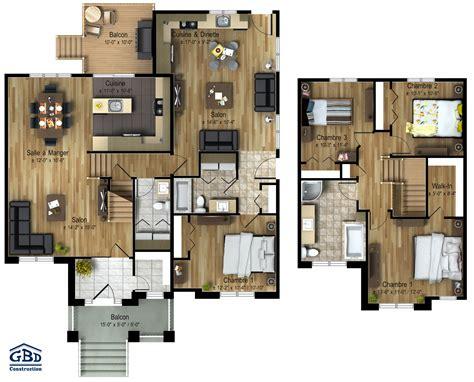 House Plans Cottage h 233 ritage maison neuve interg 233 n 233 ration gbd construction