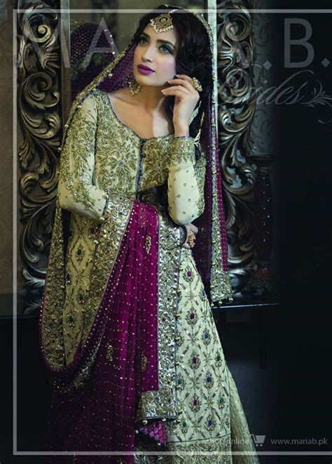 maria b bridal collection wedding and formal dresses colorful embroidered frocks for girls fashion pakistan maria b wedding bride groom gorgeous dress collection 2017