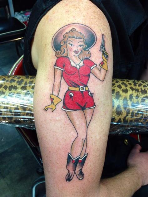 cowgirl pinup tattoos 183 best lucky 7 fortier images on