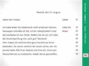 Beschwerdebrief Niveau B2 Goethe Zertifikat B2 Schreiben Aufgabe 2