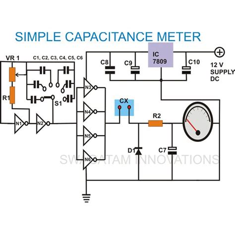capacitance meter schematic diagram gt circuits gt build at home an accurate low cost capacitance meter l35053 next gr