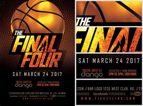 basketball flyer template the four basketball flyer template flyerheroes