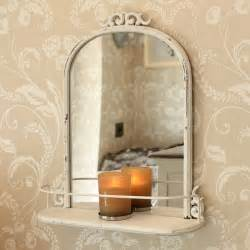 vintage style bathroom mirror antique style mirror with shelf distressed metal scroll