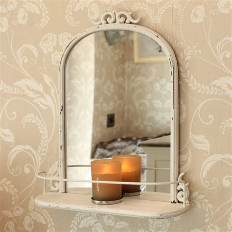 antique mirrors for bathrooms antique style mirror with shelf distressed metal scroll