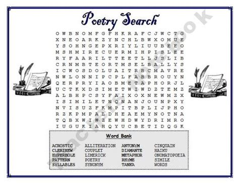 8th grade word search puzzles free poetry word puzzles free 6th 8th grade pinterest