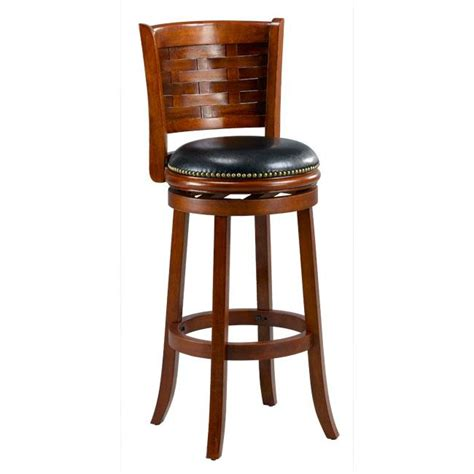 brooklyn bar stool brooklyn cherry woven back swivel bar stool 13347059