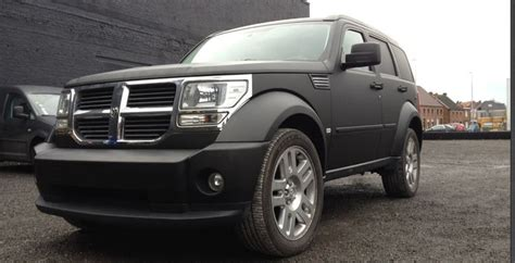 jeep nitro black car wrap dodge nitro in matt black reclame op voertuigen