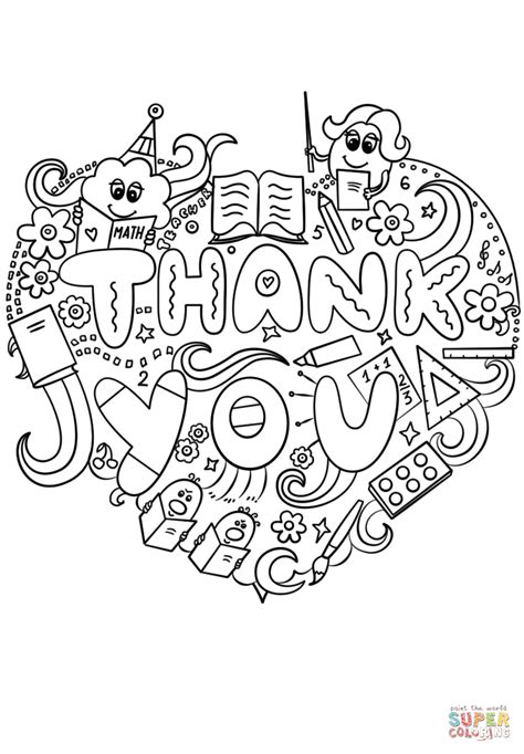 7 best images of coloring thank you cards printable kids