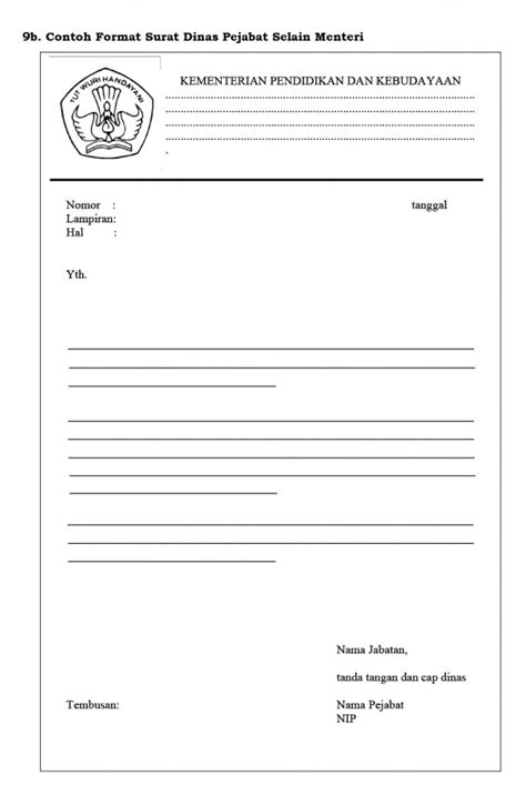 bentuk form surat dinas yang baru s personal