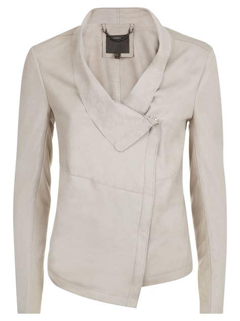 leather drape jacket louis beige drape leather jacket