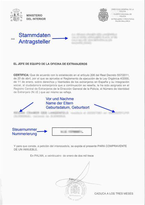 Freiberufler Rechnung Ohne Unterschrift So Sieht Die Steuernummer Spanien F 252 R Residente Aus Nie Nummer