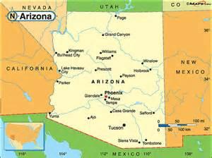 map of arizona cities and grand arizona fakta om arizona amerikanska stater