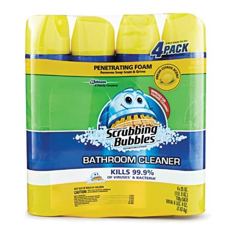 scrubbing bubbles bathtub cleaner scrubbing bubbles foaming bathroom cleaner fresh citrus