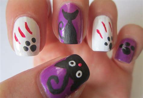halloween nail art tutorial youtube halloween nail art designs black cats nails tutorial