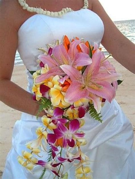 Hawaiian Wedding Flower Picture by Tropical Wedding Bouquet 2057716 Weddbook