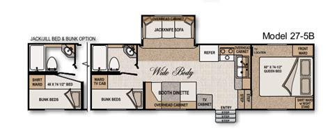 arctic fox 5th wheel floor plans how to change your rv bunkhouse into a workshop