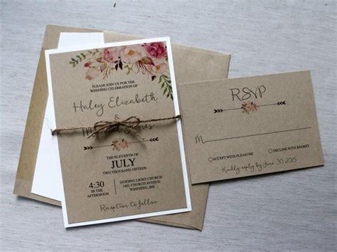 Hochzeitseinladung Zeitplan by Boho Wedding Invitation Rustic Wedding Invitiation