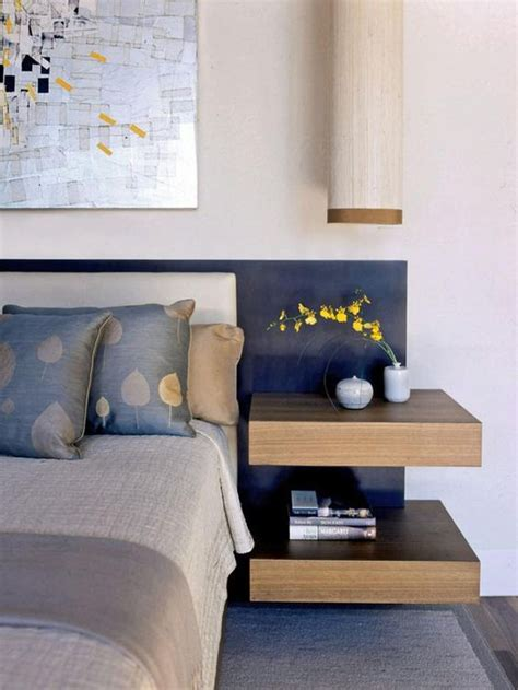 headboard with floating side tables 29 coolest floating nightstands and bedside tables digsdigs