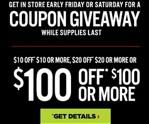 free 10 20 or 100 jcpenney coupon giveaway in stores hunt4freebies - Jcpenney Coupon Giveaway