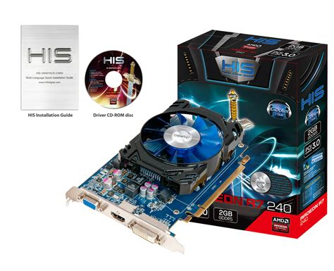jual vga his r7 240 2gb ddr5 128 bit icooler radeon central pc