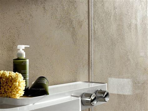 moderne wandgestaltung mit putz putz im bad badezimmer