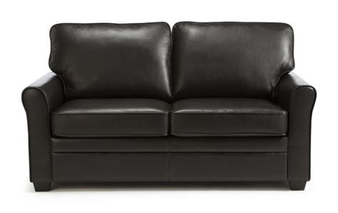 Brown Faux Leather Sofa Bed by Serene Naples Brown Faux Leather Sofa Bed By Serene