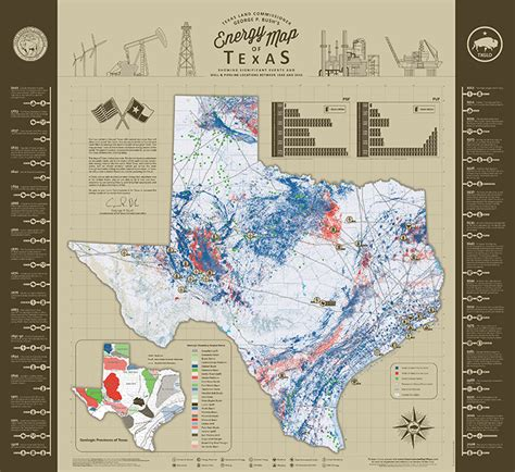 texas glo maps texas land commissioner george p bush s energy map of texas showing significant events and well
