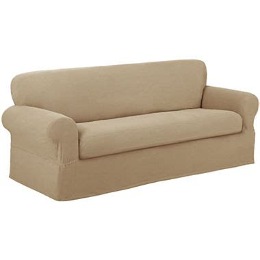 maytex smart cover stretch suede 2 pc sofa slipcover maytex smart cover reeves stretch 2 pc sofa slipcover