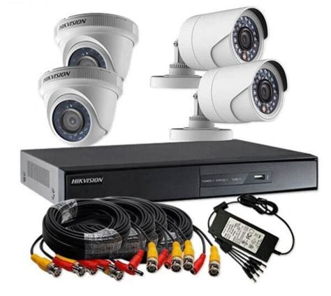 Paket Cctv Hikvision Hd 2 0mpx 4 Channel 2 Cctv In Outdoor Hdd 500gb hikvision turbo hd 1 megapixel 720p 4 channel cctv kit ds j1421 review and buy in cairo
