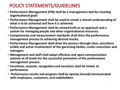 Public Service Reform A Case Exle Of Performance Management Syste Performance Management Policy And Procedures Template