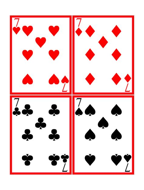 printable playing cards images