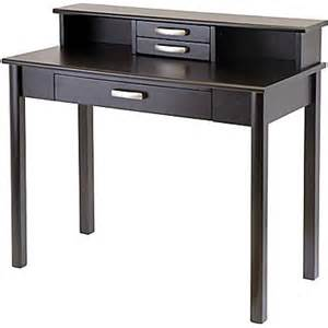 Staples Desks With Hutch Winsome Liso Standard Writing Desk With Hutch Espresso 92273 Staples 174