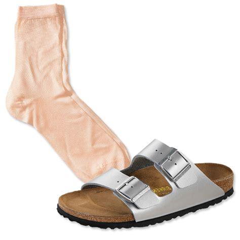 socks and sandals knit apricot socks metallic flats trend to try