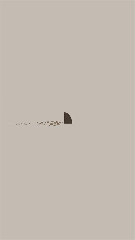 minimal simple shark sea illust art cute wallpaper